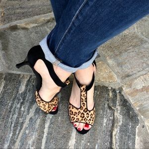 Franco Sarto Freida Cheetah Calf Hair Heels